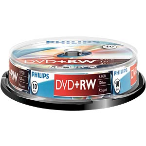 Philips DVD+RW 4.7, 4x speed, 10 spindle PHILIPS DW4S4B10F/10