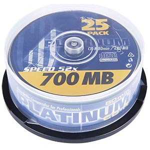 PLATINUM CDR 80min/700MB 52x, 25-spindle PLATINUM 102565