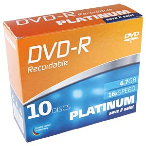 DVD+R 4,7GB, 10-SlimCase PLATINUM 102566
