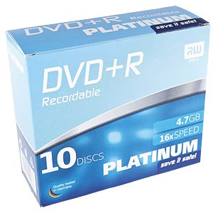 PLATINUM DVD-R 4,7GB, 120min, 16x, 10-pack SC PLATINUM 102567