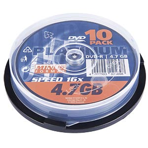 DVD+R 4,7GB, 10-Spindel PLATINUM 102568