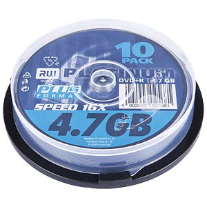 PLATINUM DVD-R 4,7GB, 120min, 16x, 10-pack spindle PLATINUM 102569