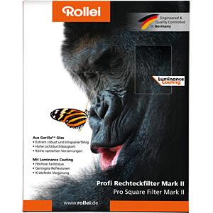 GND-Filter, Rechteckfilter, 100mm, GND16 (1,2) ROLLEI 26179