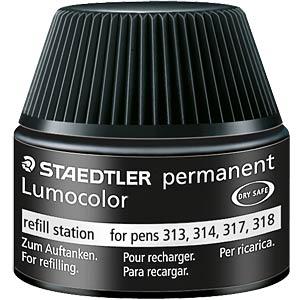 Lumocolor permanent Refill Pack F, schwarz STAEDTLER 318-9 C10P