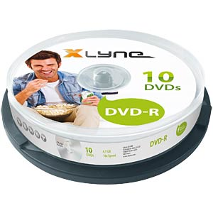 xlyne DVD-R 4.7GB, 16x speed, spindle 10 XLYNE 2010000