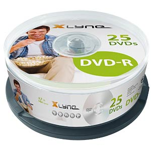 xlyne DVD-R 4,7GB, 16x Speed, Spindle 25 XLYNE 2025000