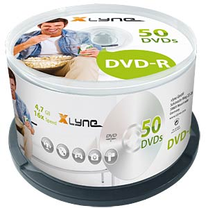 xlyne DVD-R 4,7GB, 16x Speed, Spindle 50 XLYNE 2050000