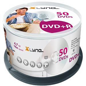 xlyne DVD+R 4.7 GB 16x Speed, Spindle 25 XLYNE 3025000