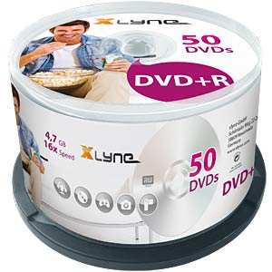 xlyne DVD+R 4.7 GB 16x Speed, Spindle 50 XLYNE 3050000