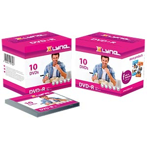 xlyne DVD+R 4,7GB, 16x Speed, Jewelcase 10 XLYNE 3J10000