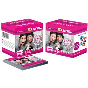 xlyne DVD+R DL 8,5GB, 8x Speed, Spindle 10 XLYNE 4010000