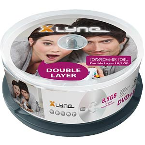 xlyne DVD+R DL 8.5GB, 8x speed, spindle 25 XLYNE 4025000