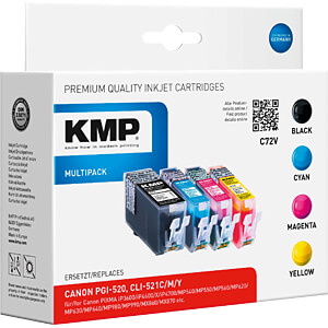 Tinte, Multipack - PGI-520/CLI-521 - refill KMP PRINTTECHNIK AG 1508,0005