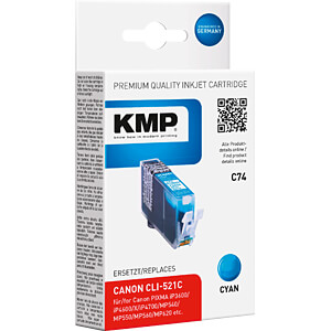 Tinte, cyan - CLI-521 - refill KMP PRINTTECHNIK AG 1510,0003
