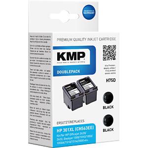 Tinte - HP - schwarz - 301XL - Doppelpack - refill KMP PRINTTECHNIK AG 1719,4021