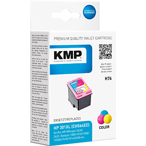 Ink — HP — 3-colour — 301XL — refill KMP PRINTTECHNIK AG 1720,4030