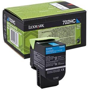 Toner - Lexmark - cyan - 702HC - original LEXMARK 70C2HC0