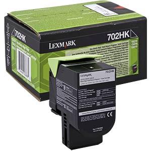 Toner - Lexmark - schwarz - 702HK - original LEXMARK 70C2HK0