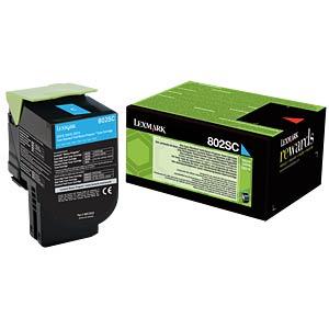 Toner - Lexmark - cyan - 802SC - original LEXMARK 80C2SC0
