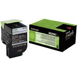Toner - Lexmark - schwarz - 802SK - original LEXMARK 80C2SK0