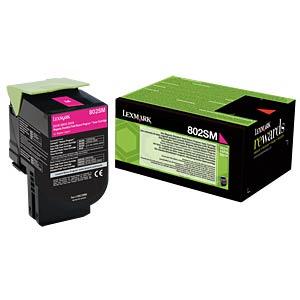 Toner - Lexmark - magenta - 802SM - original LEXMARK 80C2SM0