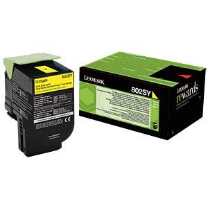 Toner - Lexmark - gelb - 802SM - original LEXMARK 80C2SY0