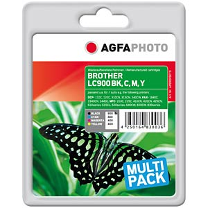 Multipack: Brother DCP 110C/120C/320CN AGFAPHOTO APB900SETD