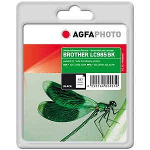 Black: Brother DCP-J125, DCP-J315W AGFAPHOTO APB985BD