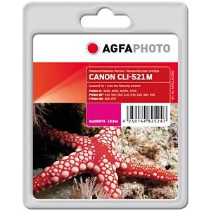 Magenta: Canon PIXMA iP3600 iP4600... AGFAPHOTO APCCLI521MD