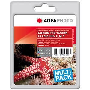Multipack: Canon PIXMA iP3600 iP4600... AGFAPHOTO APCCLI521SETD