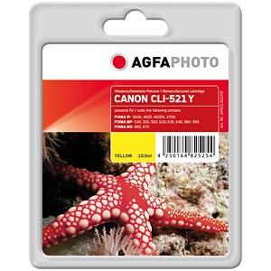 Yellow: Canon PIXMA iP3600 iP4600... AGFAPHOTO APCCLI521YD