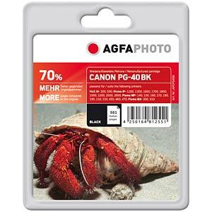 Black: Canon PIXMA MP150/170/180/450 AGFAPHOTO APCPG40B