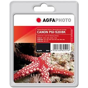 Black: Canon PIXMA iP3600 iP4600 MP540... AGFAPHOTO APCPGI520BD