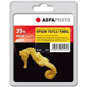 Tinte - Epson - schwarz - T0711 - refill AGFAPHOTO APET071_T089BD