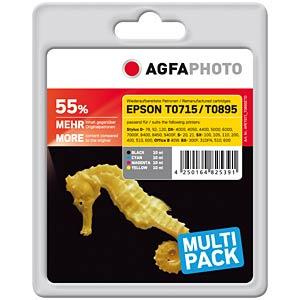 Tinte - Epson - Multipack - T0715 - refill AGFAPHOTO APET071_T089SETD
