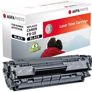 Toner - Canon - schwarz - FX-10 - rebuilt AGFAPHOTO APTCFX10E