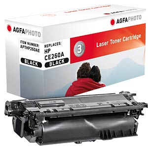 Toner - HP - schwarz - CE260A - rebuilt AGFAPHOTO APTHP260AE