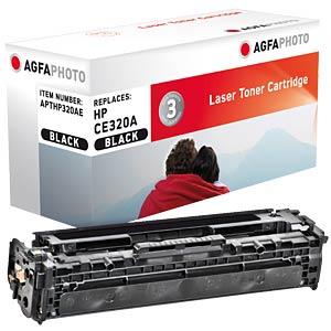 Toner - HP - schwarz - CE320A - rebuilt AGFAPHOTO APTHP320AE