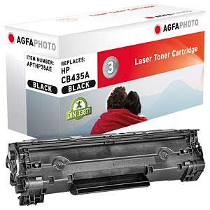 Toner - HP - schwarz - CB435A - rebuilt AGFAPHOTO APTHP35AE