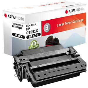Toner for HP LaserJet P3005, black AGFAPHOTO APTHP51XE