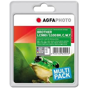 Multipack: Brother DCP 145C/165C/385C... AGFAPHOTO APB1100SETD