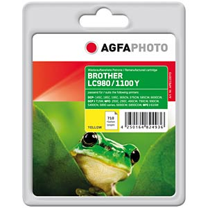Tinte - Brother - gelb - LC1100 - refill AGFAPHOTO APB1100YD