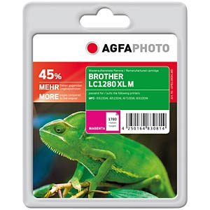 Tinte - Brother - magenta - LC1280 - refill AGFAPHOTO APB1280XLMD