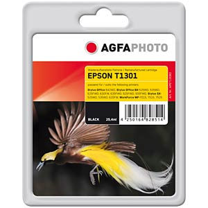 Tinte - Epson - schwarz - T1301 - refill AGFAPHOTO APET130BD