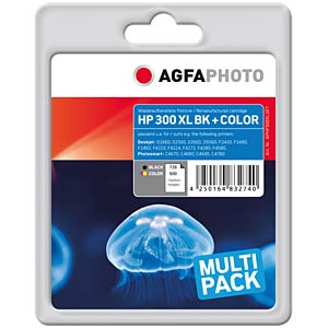 Tinte - HP - Multipack - 300XL - refill AGFAPHOTO APHP300XLSET