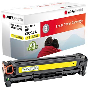 Toner for HP LaserJet Pro 200, yellow AGFAPHOTO APTHP212AE