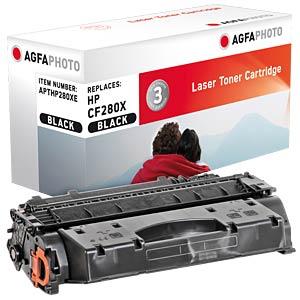 Toner - HP - schwarz - CF280X - rebuilt AGFAPHOTO APTHP280XE