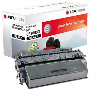 Toner - HP - schwarz - CF280XX - rebuilt AGFAPHOTO APTHP280XXE