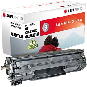 Toner for HP LaserJet P1505, black AGFAPHOTO APTHP36XE