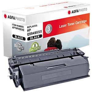 Toner - HP - schwarz - Q5949XXX - rebuilt AGFAPHOTO APTHP49XXE
